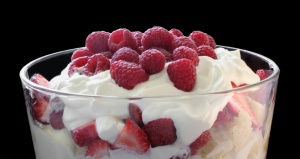 trifle with fresh berries and whipped cream
